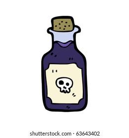 poison bottle cartoon