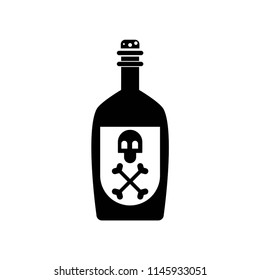 Poison bottle with a skull symbol icon vector icon. Simple element illustration. Poison bottle with a skull symbol symbol design. Can be used for web and mobile.