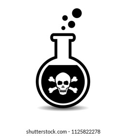 Poison bottle vector icon isolated on white background