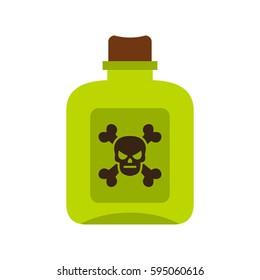 Poison icon isolated on white background vector illustration