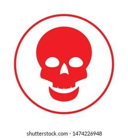 poison skull icon. flat illustration of poison skull  vector icon. poison skull sign symbol