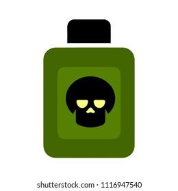 poison symbol. skull sign - Attention danger, death illustration