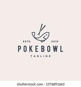 poke fish bowl logo design