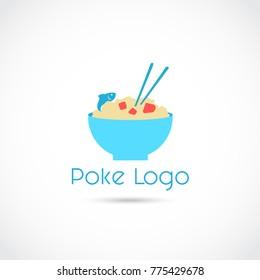 Poke Food Logo Logo Design. Vector Illustrator Eps. 10