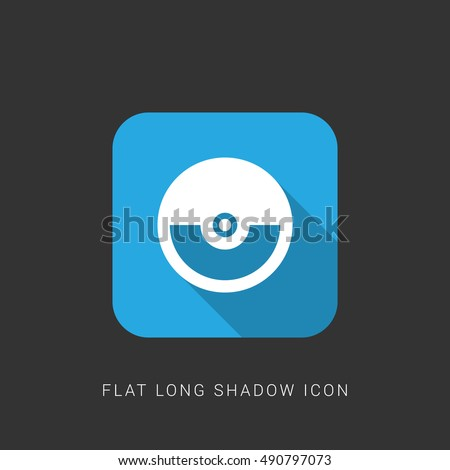 Pokeball Flat Blue Long Shadow Icon Stock Vector Royalty Free
