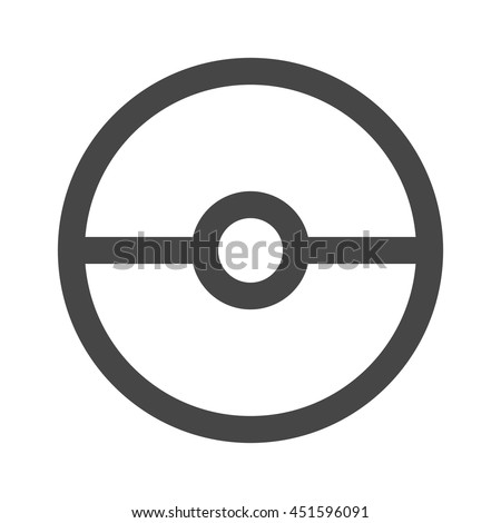 pokeball icon transparent isolated vector illustration stock vector