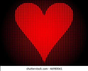 poker banner-heart
