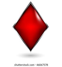 poker card sign diamond