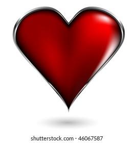 poker card sign heart