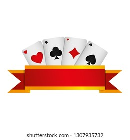 poker cards casino icons