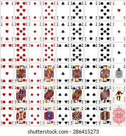 Poker cards full set four color classic design 400 dpi
