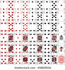 Poker cards full set two color classic design