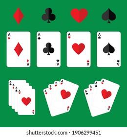 Poker cards set vector editable