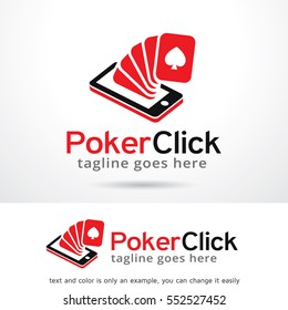 Poker Click Game Logo Template Design Vector/ Icon Design