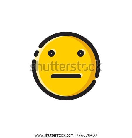 Poker face emoji