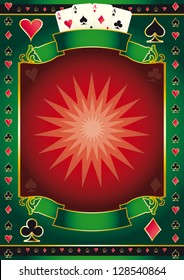 Poker game poster. A background for your Poker Tour. Write your message on the copy space.