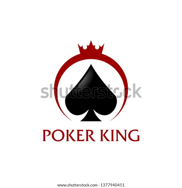 Poker King Logo Vector Design Template Stock Vector Royalty Free 1377940451