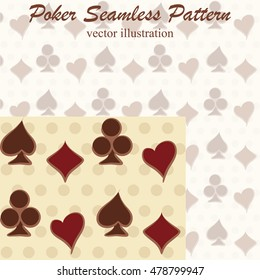 Poker seamless pattern, vector illustration