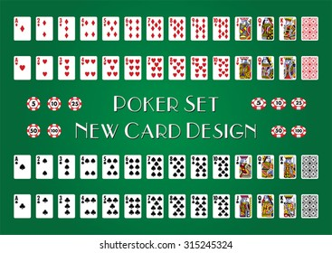 Poker Set with New Cards Design
