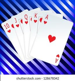 poker straight card set