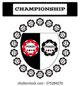 Poker symbol on white background. Vector illustration.