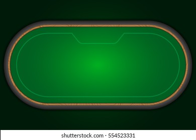 Poker table. Vector illustration.