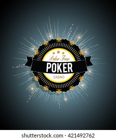 Poker tour vector background