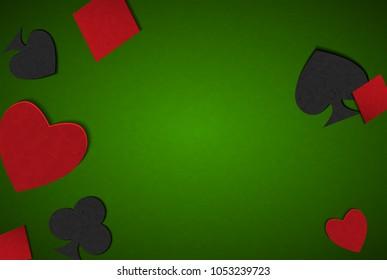 Poker vector background. Poker table. Poker cards. Poker card game.