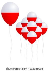Poland flag balloon