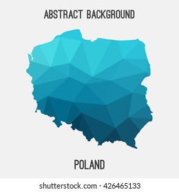 Poland map in geometric polygonal style.Abstract tessellation,modern design background. Vector illustration EPS8