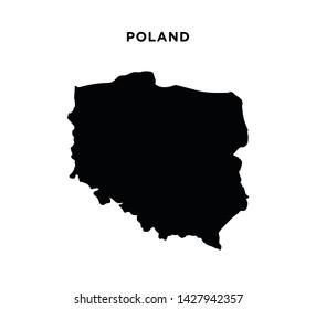 Poland map icon vector illustration
