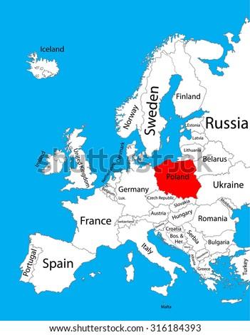Poland Vector Map Europe Vector Map Stock Vector (Royalty Free