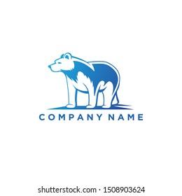 Polar Bear Animal Logo Design