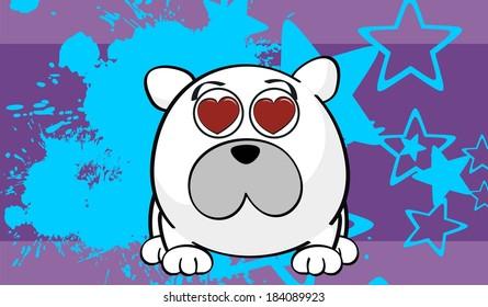 polar bear cartoon background in vector format