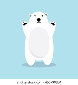 Polar bear cartoon character.