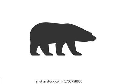 Polar bear graphic icon. Arctic bear sign isolated on white background. White bear symbol. Vector illustration