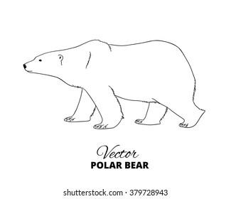Making Learning Fun   Polar Bear Pattern Outlines   Polar bear craft, Polar  bear art, Winter preschool