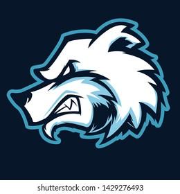 Polar Bear Head Vector Mascot