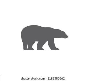 Polar bear icon.  Bear silhouette. bear icon.