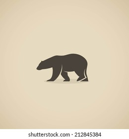Polar bear icon - vector illustration