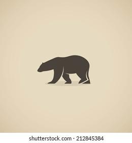 Polar bear icon - vector illustration