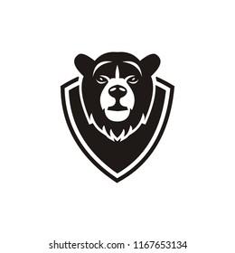 polar bear logo template vector icon illustration