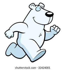 Polar Bear Running