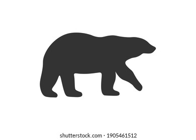 Polar bear silhouette. Simple icon. Flat style element for graphic design. Vector EPS10 illustration