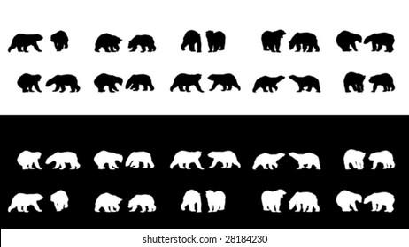 polar bear silhouettes collection