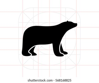 Polar bear simple icon