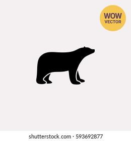 Polar bear simple icon
