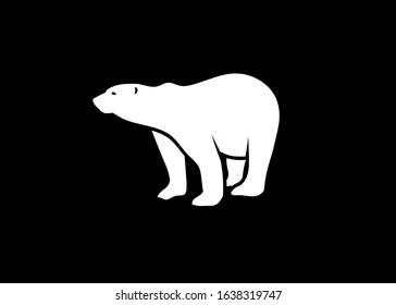 polar bear vector silhouette vector illustration
