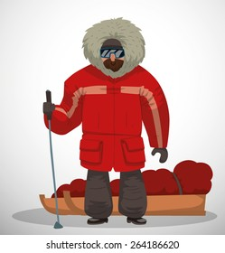 Polar explorer, vector