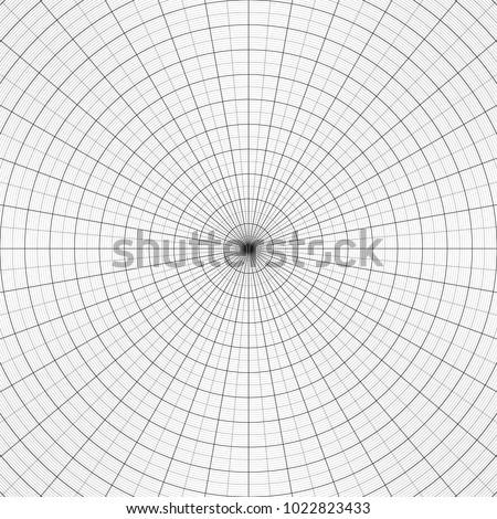 Polar Graph Paper Vtctor Illustration Concentric Stock Vector ...